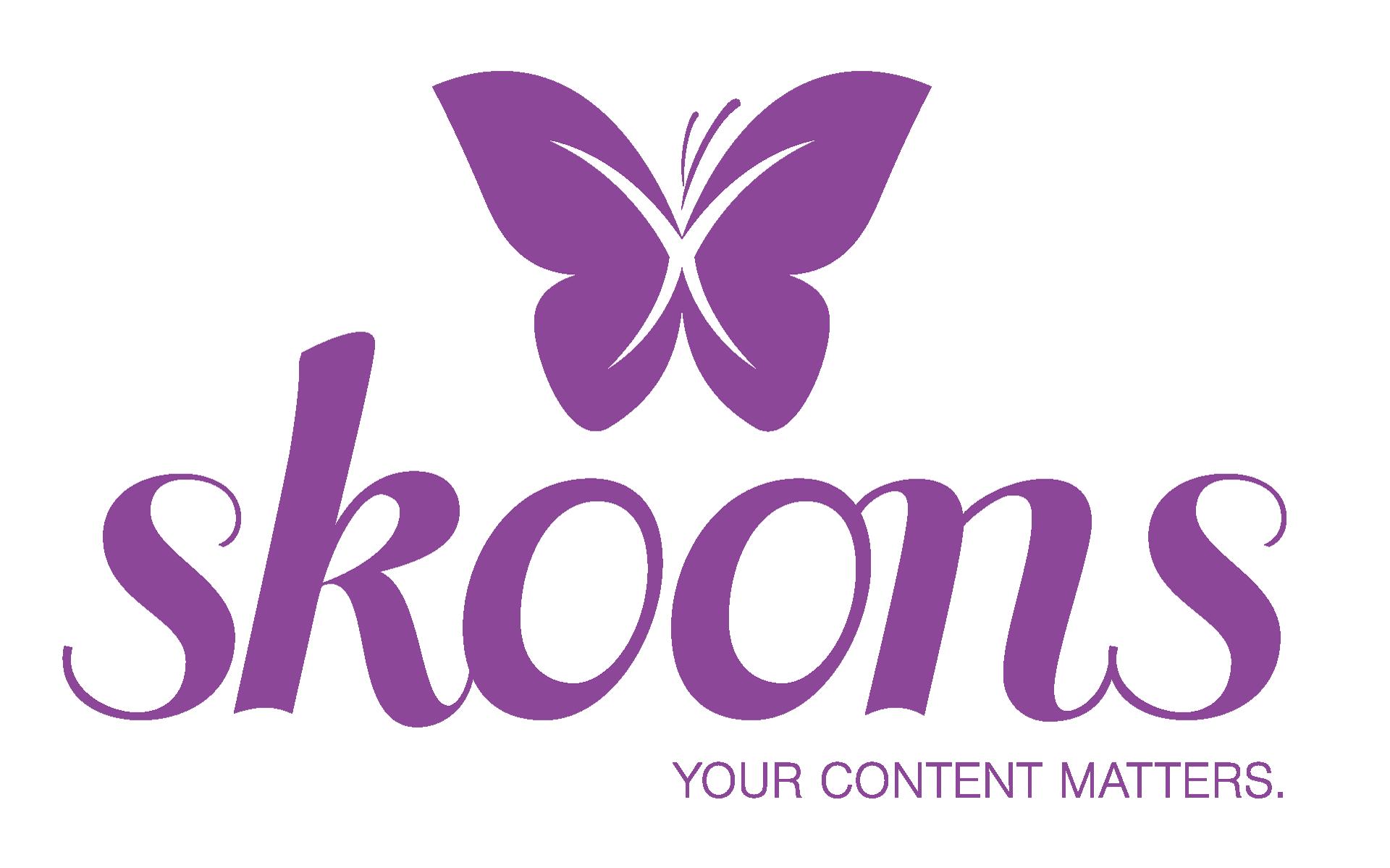Het paarse logo van skoons