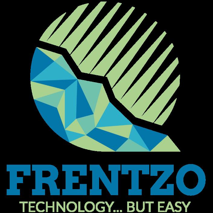 Grafisch ontwerp van het logo van Frentzo, een klant van NOBLY