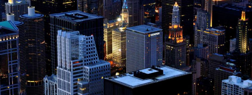 Een stadsgeszicht van Chicago, amerika