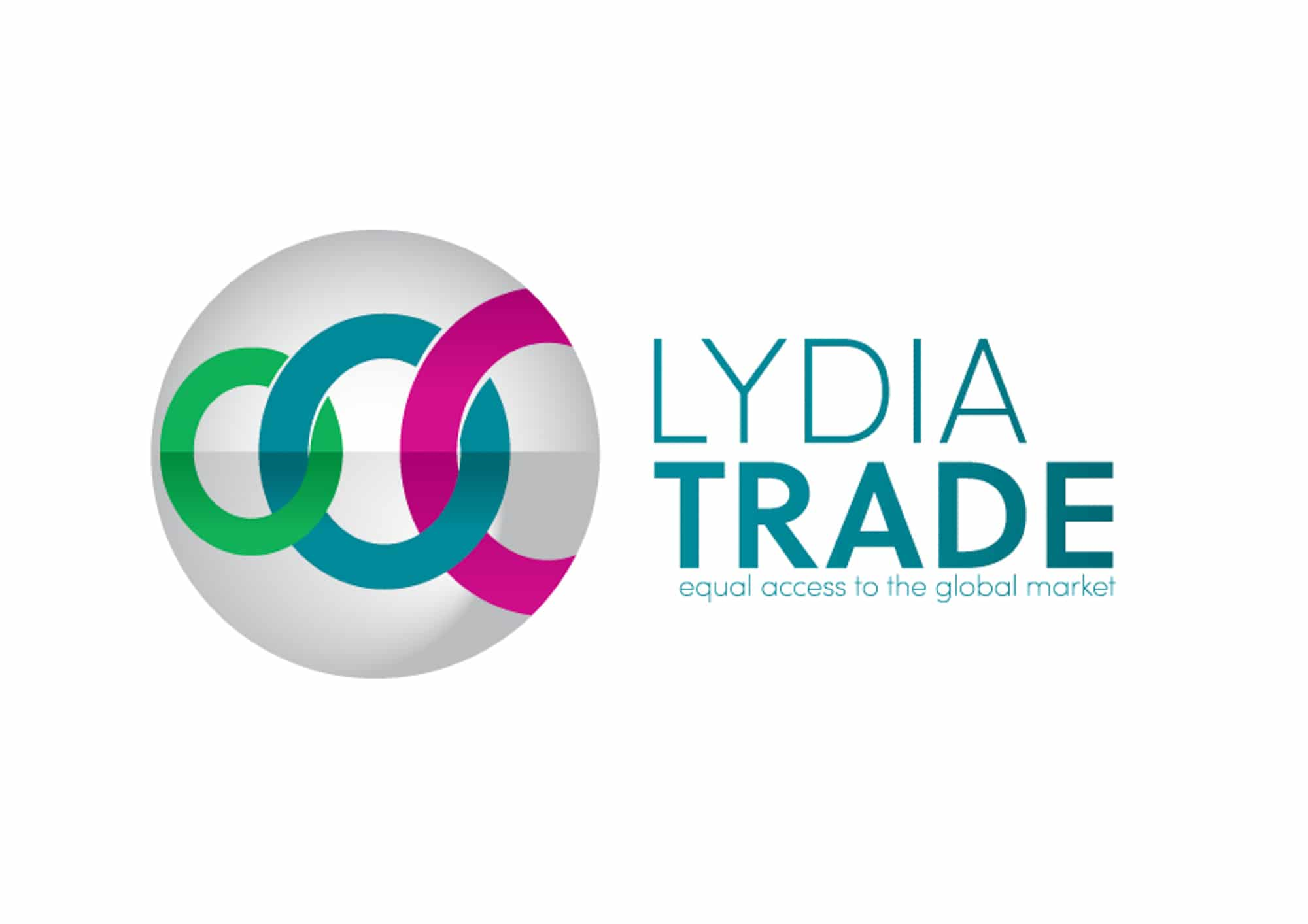 Het logo van Lydia Trade in kleur