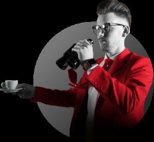 Bart Moree van NOBLY praat met koffie in hand en verrekijker
