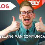 Bart Moree van NOBLY is blij en steekt 2 duimen omhoog